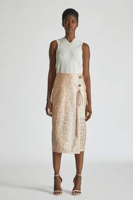 Yigal Azrouel Laminated Lace Skirt