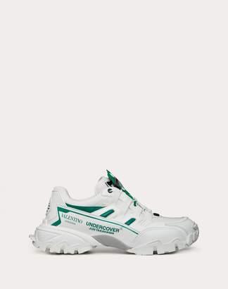 Valentino Garavani Uomo Garavani Undercover Climbers Sneaker Man Maroon Calfskin 100%, Textile Fibres 45.5