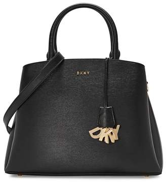 DKNY Paige Large Black Leather Tote