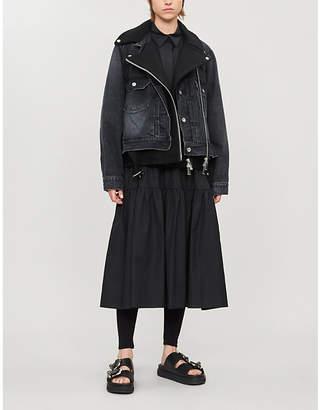 Sacai Denim and wool-blend jacket