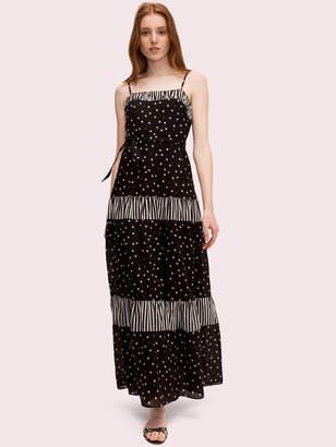 Kate Spade daisy dot mixed maxi dress