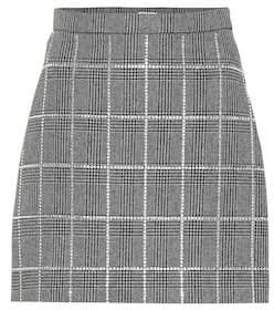 Miu Miu Embellished wool-blend miniskirt