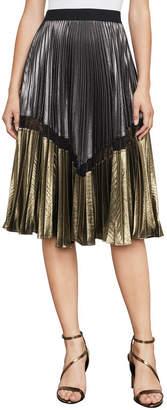 BCBGMAXAZRIA Toni Metallic Midi Skirt