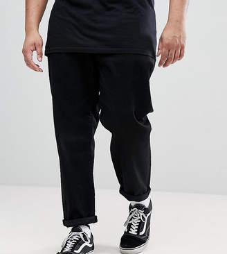 Asos DESIGN PLUS Double Pleat Jeans In Black