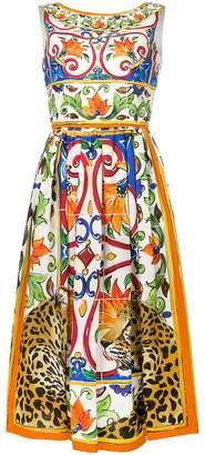 Dolce & Gabbana printed flared dress