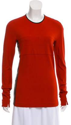 Narciso Rodriguez Scoop Neck Long Sleeve Top