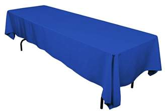 "Gee Di Moda Rectangle Tablecloth - 60 x 126"" Inch - Royal Blue Rectangular Table Cloth for 8 Foot Table in Washable Polyester - Great for Buffet Table"