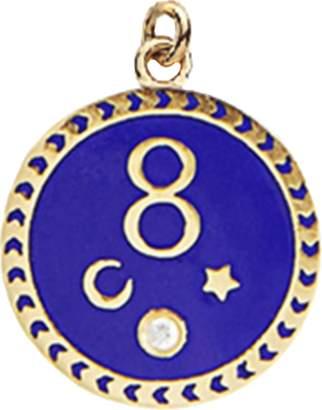 FOUNDRAE Karma Blue Medallion Pendant