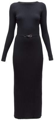 Gabriela Hearst Luisa Avalon Belted Wool Blend Sweater Dress - Womens - Black