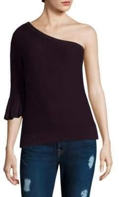 Rebecca Minkoff Wappo One-Shoulder Bell-Sleeve Top