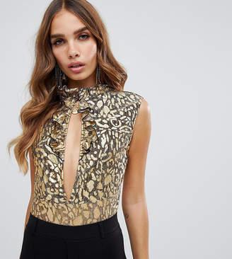 Dusty Daze mesh leopard body with cut out