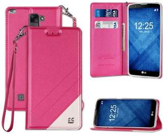 LG Electronics Beyond Cell Infolio Wrist Strap Lanyard Wallet Credit Card Id Case For Stylo-2 Plus Ms550