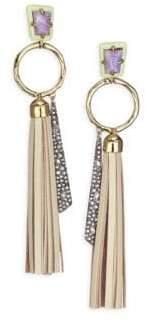Alexis Bittar Elements Crystal Ring& Tassel Drop Earrings