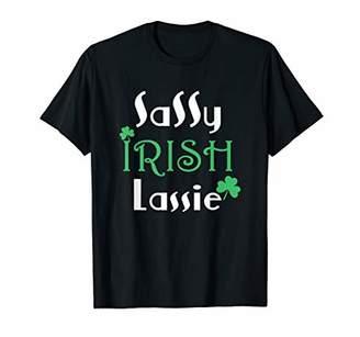 Sassy Irish Lassie T shirt St Patricks Day for Women