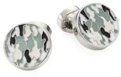 Saks Fifth Avenue COLLECTION Camouflage Round Cufflinks