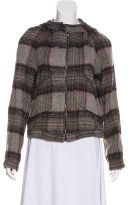 Anne Valerie Hash Plaid Hooded Sweatshirt