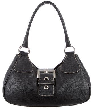 prada Prada Grained Leather Hobo
