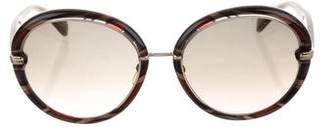 Emilio Pucci Printed Round Sunglasses