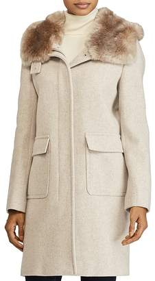 Lauren Ralph Lauren Faux Fur Lined Hood Coat