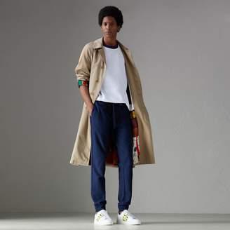 Burberry Herringbone Cotton Sweatpants
