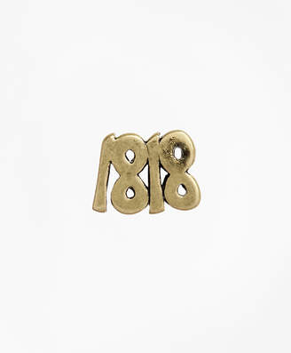 Brooks Brothers Silver 1818 Lapel Pin