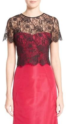 Women's Oscar De La Renta Tie Back Lace Bolero $1,290 thestylecure.com