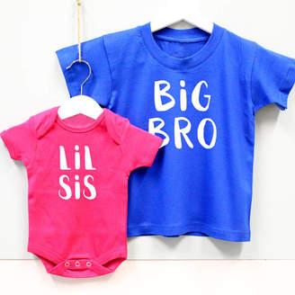 fb0d701b3b9 Precious Little Plum  Big Bro   Lil Sis  Brother And Sister T Shirt