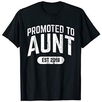 Promoted to Aunt Established 2018 Tshirt