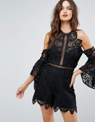 Forever New Lace Detail Playsuit