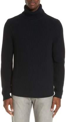 Eidos Ribbed Merino Wool Turtleneck Sweater