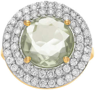 Journee Collection FINE JEWELRY Genuine Green Quartz and Cubic Zirconia Ring