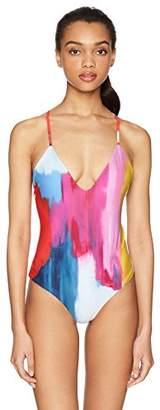 Mara Hoffman Women's Emma Cross Back One Piece Swimsuit