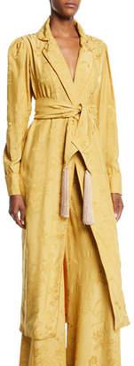 Johanna Ortiz Unusual Romance Belted Jacquard Kimono Robe