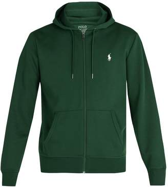 Polo Ralph Lauren Zip-through hooded cotton-jersey sweatshirt