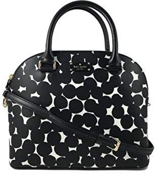 Kate Spade Carli Grove Street Leather Handbag in Black/Cream
