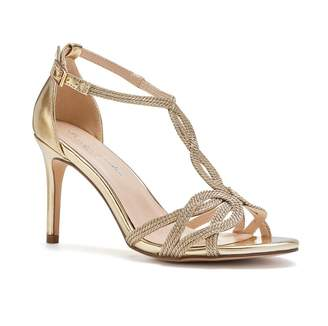 d06ebbc391ca Barely There Paradox London Hilton Gold High Heel Knotted Sandals