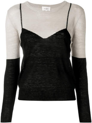 Isa Arfen embroidered fitted sweater