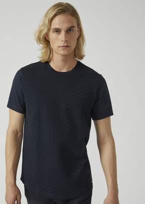 Emporio Armani Pure Cotton T-Shirt With Jacquard Logo Design