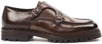Eleventy Dark Brown Shiny Leather Shoes