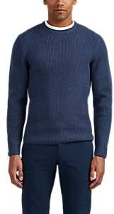 P. Johnson Men's Rib-Knit Merino Wool-Cashmere Sweater - Navy
