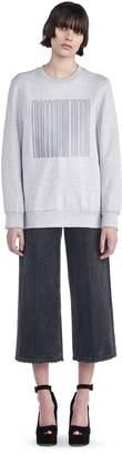 Alexander Wang Oversized Sweatshirt With Barcode Embroidery