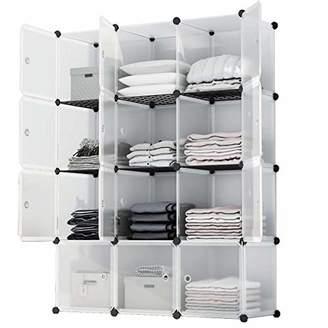 KOUSI Portable Storage Shelf Cube Shelving Bookcase Bookshelf Cubby Organizing Closet Toy Organizer Cabinet