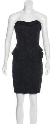 ABS by Allen Schwartz Strapless Matelassé Dress w/ Tags