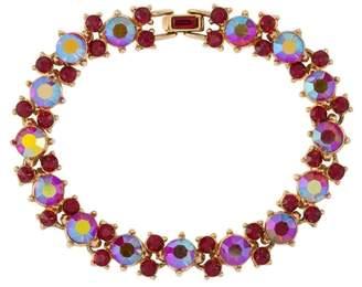Susan Caplan Vintage 1950s Vintage Trifari Red Crystal Bracelet