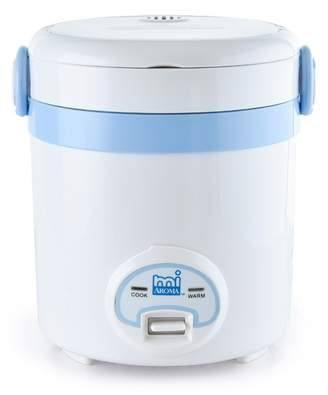 White/Blue miAroma Mini Rice Cooker