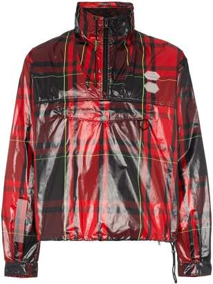 Off-White tartan zip neck jacket