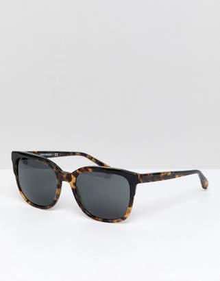 Emporio Armani Square Sunglasses in Tort
