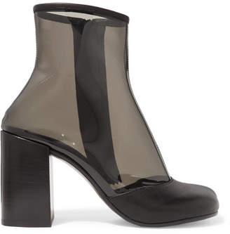 MM6 MAISON MARGIELA Leather-trimmed Pvc Ankle Boots - Clear