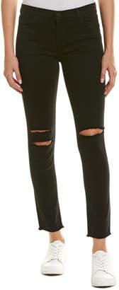 J Brand Black Mercy Low-Rise Crop Skinny Leg