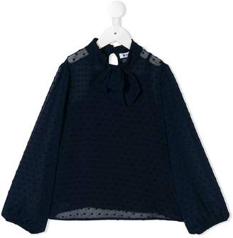 Dondup Kids embroidered flared blouse